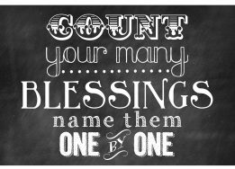 Lent - count your blessings